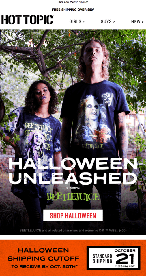 Hot Topic Halloween Unleashed