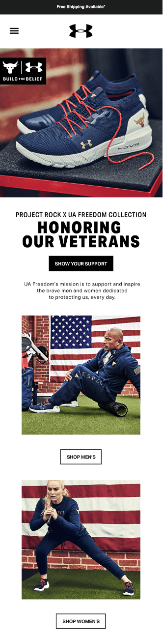 Under Armour Honoring Our Veterans