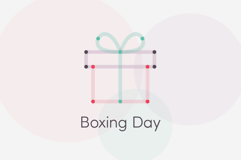 Boxing Day illustration of holiday gift