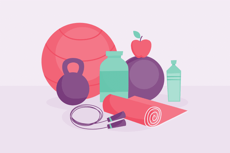 Health and wellness illustration
