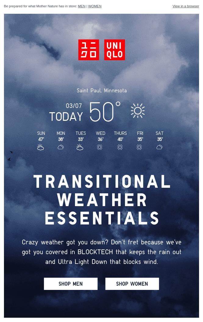 Uniqlo transitional weather essentials