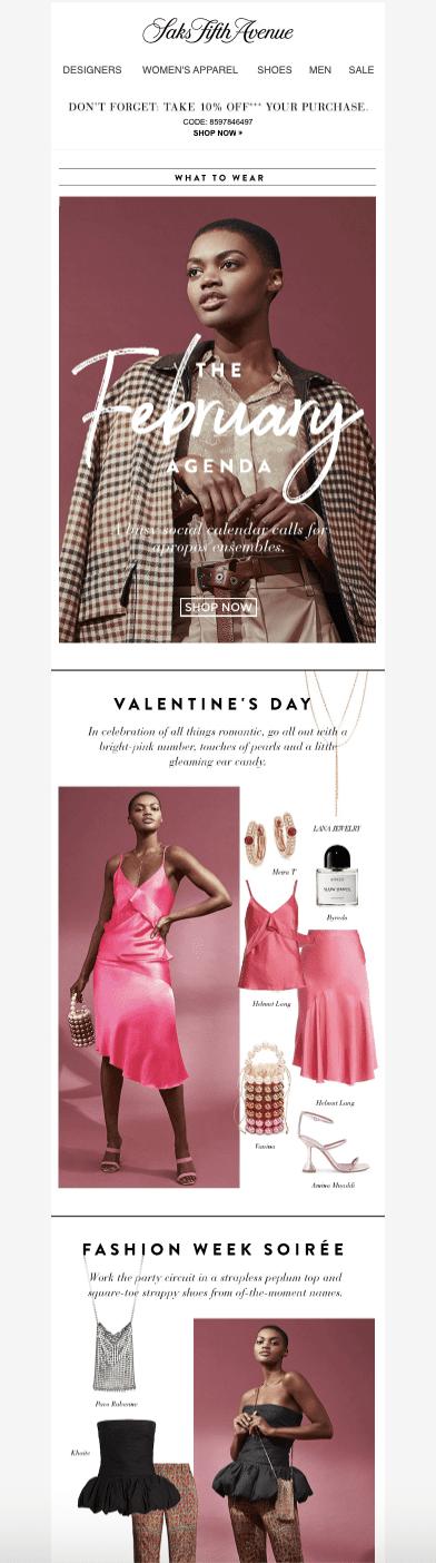 Saks Fifth Avenue: The February Style Agenda