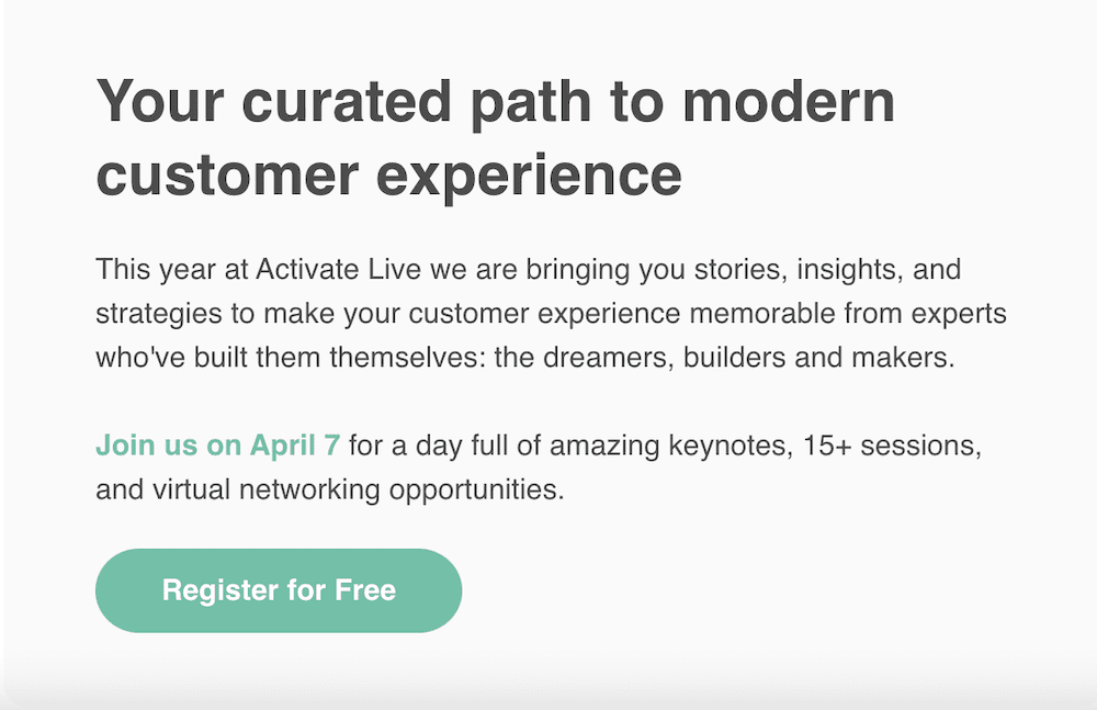 Email design trends - Iterable Activate Live announcement