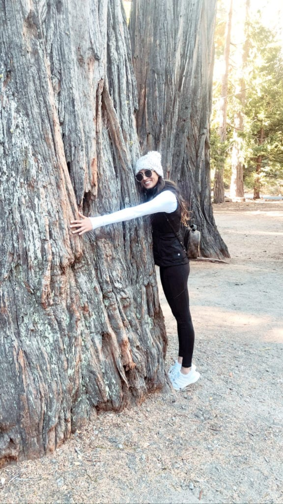 Women in Marketing - Sonam Patel hugging a tree