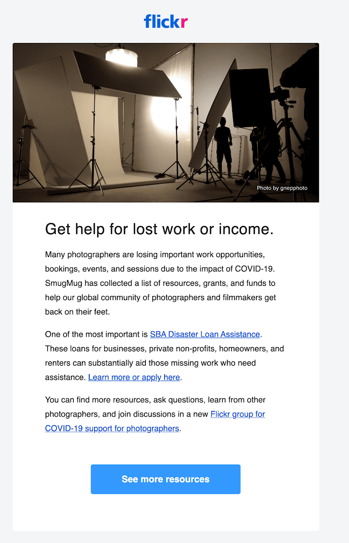 Flickr Email for Photographers
