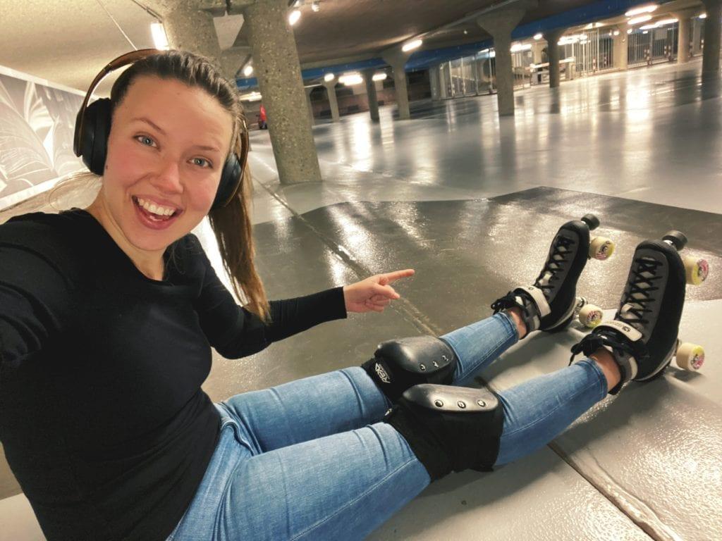 Women in Marketing - Kait Creamer taking up roller skating