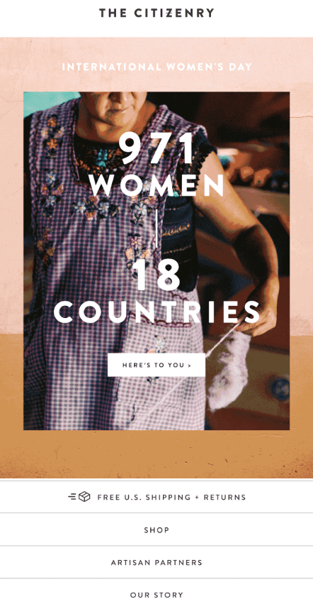The Citizenry - International Women's Day Email