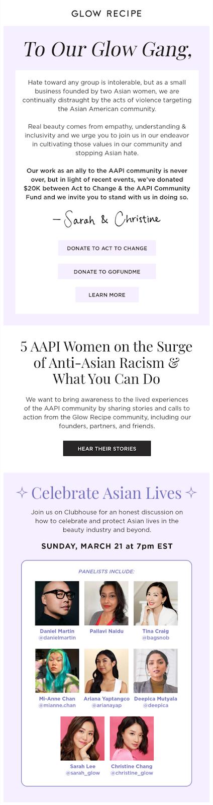 Glow AAPI email