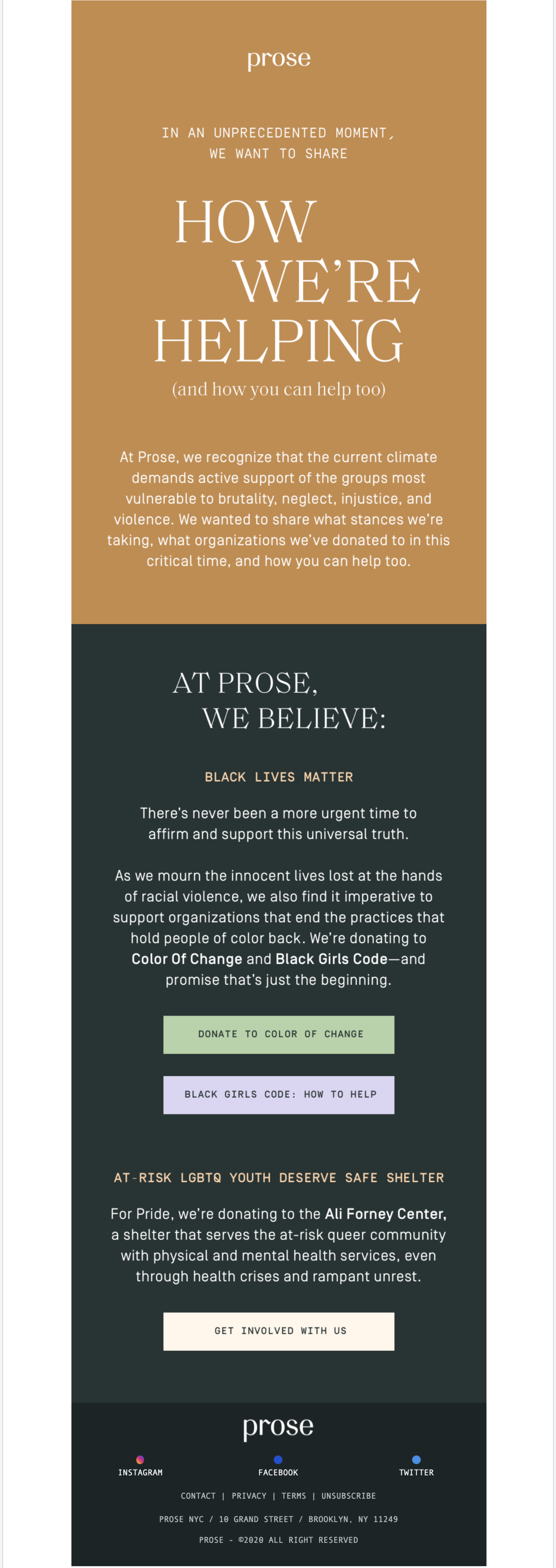 Prose Pride Email
