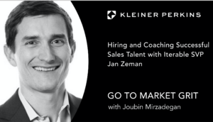 Hiring and Coaching Successful Sales Talent with Iterable SVP Jan Zeman