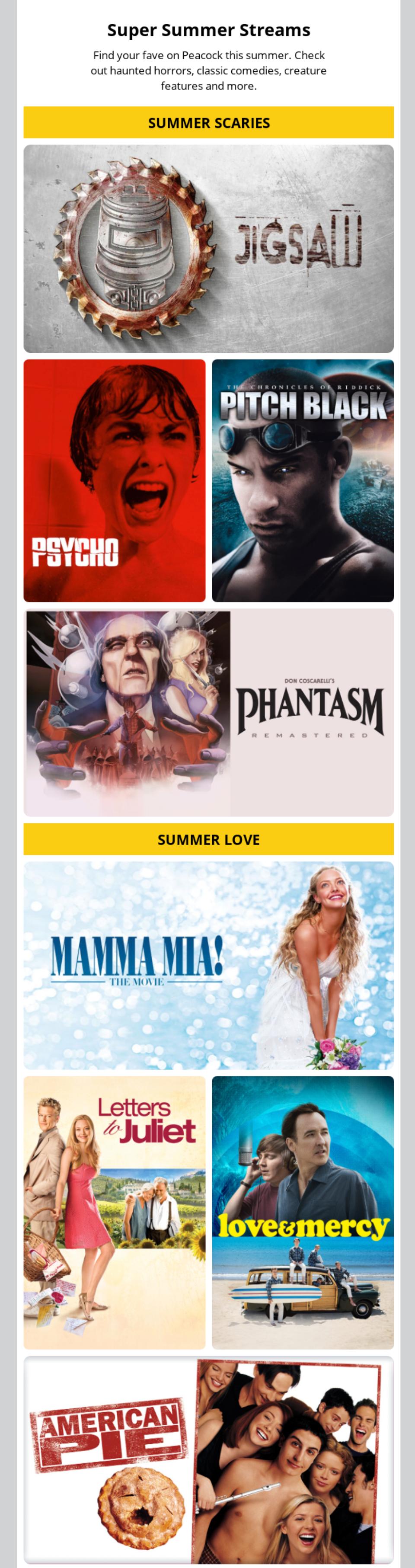Peacock Nostalgic Movies