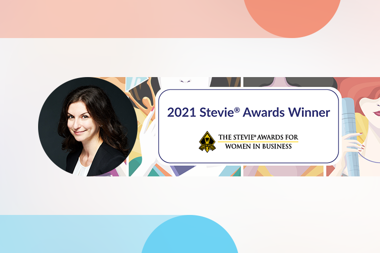 Bela Stepanova Named 2021 Woman of the Year by the Stevie Awards