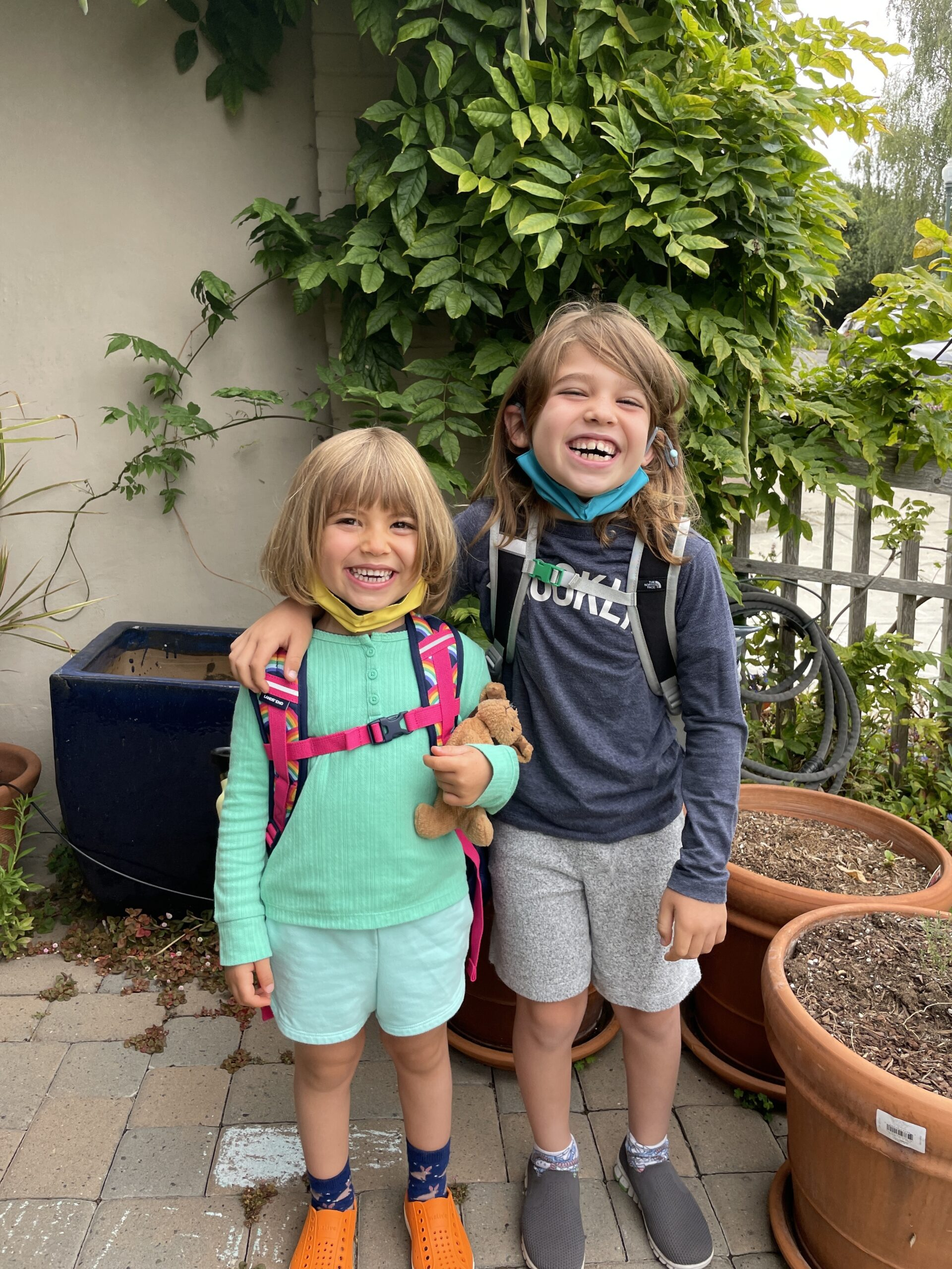 Matt's daughters ready to go back to school